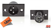 Conector XLR 03P M chasis negro