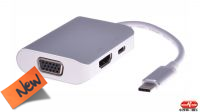 Cable adaptador USB 3.1 M -  HDMI , VGA  USB 3.1 H PD Charge   0.20 m.