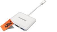 Cable adaptador USB 3.1 M -  HDMI , USB 3.0,   USB 3.1 H PD Charge   0.10 m.