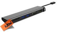 Cable adaptador USB 3.1 M - VGA/HDMI/2xUSB3.0/SD card  0.20 m.