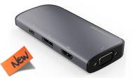 Cable adaptador USB 3.1 M a VGA/HDMI/DP1.2/PD3.0 10cm