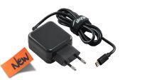 Cargador universal 110-240V Micro USB 5V/3A negro 1m.