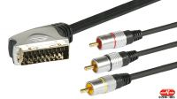 Cable multimedia Gold 3xRCA/Euroconector