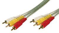 Cable de conexión RCA 3xM/3xM HQ
