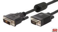 Cable adaptador de monitor DVI-A 16p-HD15 M/M