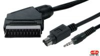 Cable multimedia Euroconector Scart a S- SVHS + Jack 3.5mm
