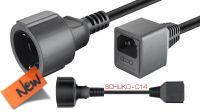 Cable de extensión alimentación  externo C14 / Schuko con fusible