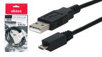 Cable Akasa USB 2.0 Tipo A-Micro B Macho-Macho, 1 m
