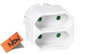 Adaptador divisor schuko 1 x M - 2 x H euro blanco