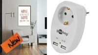 Toma de 220V 16A (máx. 3500W) 2x USB máx. 3.1A blanca
