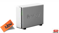 "Caja externa NAS DS120J 2.5/3.5"" 1Bay SATA up a 16TB 2xUSB 2.0 Lan Giga Raid 1"
