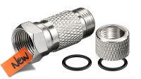 Conector F Nikel de aplicación rápida 7.3 mm. (5u.)