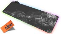 Alfombrilla Ratón Gaming Genesis BORON 500 XXL RGB 80X30cm negro