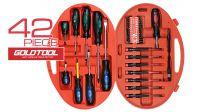Kit de herramientas de destornillador y puntas de 42 piezas