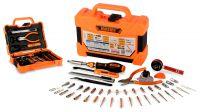 Kit de herramientas llave magnética trinquete con puntas para mantenimiento 47 piezas
