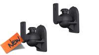 Soporte de pared para altavoces de hasta 3.5Kg de peso en negro