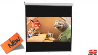 "Pantalla de 112"" para proyector con area util 200x200cm con soporte de pared/tecto"