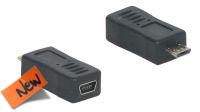 Adaptador USB Micro 05P Macho a mini USB Hembra