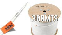 Bobina de cable coaxial RG59 75Ohms blanca 300m