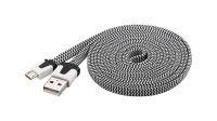 Cable USB A Macho a Micro B Macho con revestimento en nylon 2m
