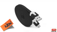 Cable USB A Macho a micro USB B Macho plano 2m