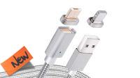 Cable USB A Macho a micro USB Macho con punta magnética 1m