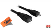 Cable USB micro USB 2.0 Macho/Hembra negro