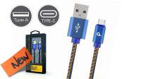 Cable de datos y carga Máx. 2A Tipo C Jeans (Denim) azul