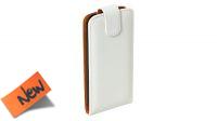 Funda protectora delantera y trasera con abertura superior y con cierre imán blanca