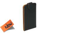 Funda protectora delantera y trasera con apertura superior y cierre con imán negro