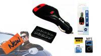Transmisor MP3 por FM tarjeta SD rojo/negro para automóvil