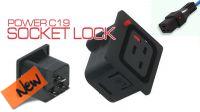 Conector IEC Plug C19 de panel 16A Hembra negro