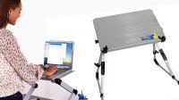 """Mesa de apoyo para portátiles aluminio 8-17"""" 20 Kg negro"""